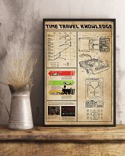 Time Travel Knowledge Black White Portrait Poster 11x17 Poster lifestyle-poster-3