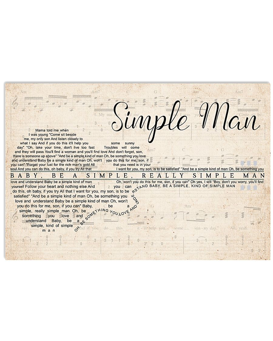 Simple Man lyrics Poster 24x16 Poster