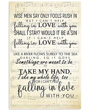 I Cant Help Falling in Love lyrics 11x17 Poster front