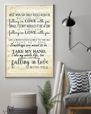 I Cant Help Falling in Love lyrics 11x17 Poster lifestyle-poster-1