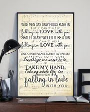 I Cant Help Falling in Love lyrics 11x17 Poster lifestyle-poster-2