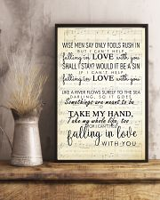 I Cant Help Falling in Love lyrics 11x17 Poster lifestyle-poster-3