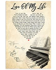 Love Of My Life Song Lyrics 11x17 Poster front