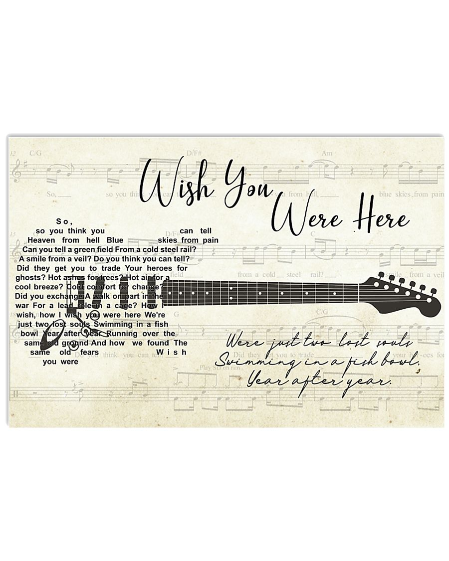 Wish You Were Here song lyric Poster 24x16 Poster