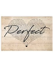 Ed Sheeran Perfect Lyrics Heart 24x16 Poster front