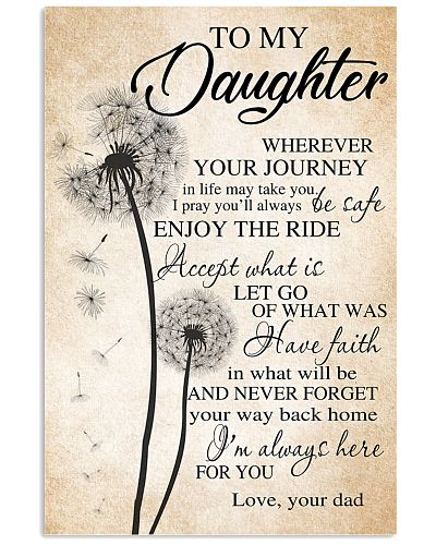 Dandelion Dad To My Daughter I'm Always Here