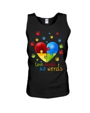 Love Needs No Words Autism Cute Shirt Unisex Tank thumbnail