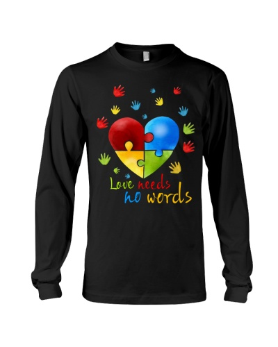 Love Needs No Words Autism Cute Shirt
