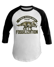 Triceratops Fossil Baseball Tee tile