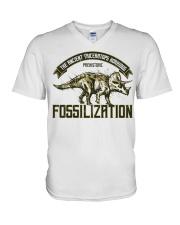 Triceratops Fossil V-Neck T-Shirt thumbnail