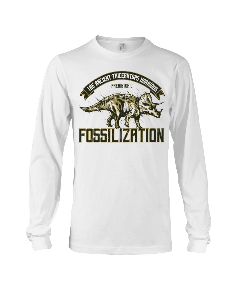 Triceratops Fossil Long Sleeve Tee