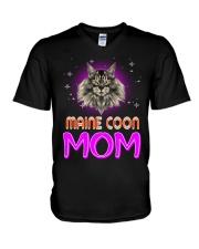 MAINE COON Merry Christmas V-Neck T-Shirt thumbnail