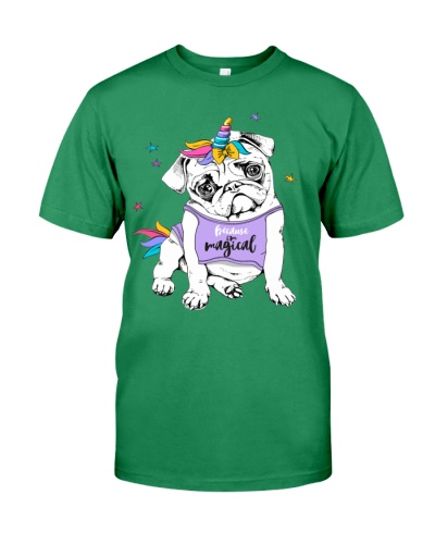 Adorable Puppy Pug In A Bright Colored Costume Of