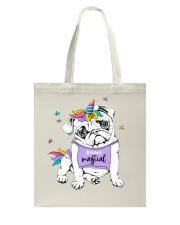 Adorable Puppy Pug In A Bright Colored Costume Of Tote Bag thumbnail