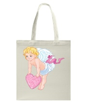 Angry Baby Cupid Holding A Heart Tote Bag thumbnail