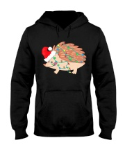 Hedgehog Christmas Light Shirt Funny Hedgehog Love Hooded Sweatshirt thumbnail