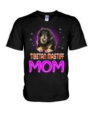 TIBETAN MASTIFF Merry Christmas V-Neck T-Shirt thumbnail