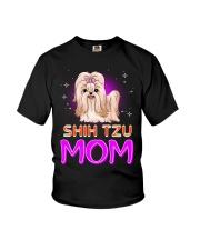 SHIH TZU Merry Christmas Youth T-Shirt thumbnail