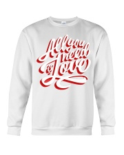 All You Need Is Love Typographic Poster Original H Crewneck Sweatshirt thumbnail