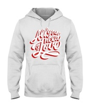 All You Need Is Love Typographic Poster Original H Hooded Sweatshirt thumbnail