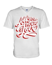 All You Need Is Love Typographic Poster Original H V-Neck T-Shirt thumbnail