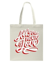 All You Need Is Love Typographic Poster Original H Tote Bag thumbnail