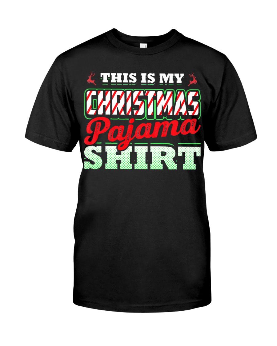 This Is My Christmas Pajama Shirt Xmas Pj Top T Sh Classic T-Shirt