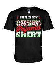 This Is My Christmas Pajama Shirt Xmas Pj Top T Sh V-Neck T-Shirt thumbnail
