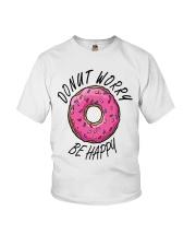 Donut Worry Be Happy Youth T-Shirt thumbnail
