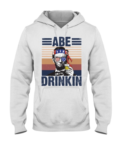 Abe Drinkin American Funny 4th of July Vintage