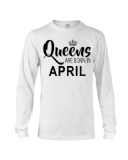 Queen are born in April Ladies T-Shirt Long Sleeve Tee thumbnail