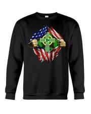 CPC - AMERICAN FLAG BREAKING IRISH CROSS Crewneck Sweatshirt thumbnail