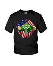 CPC - AMERICAN FLAG BREAKING IRISH CROSS Youth T-Shirt thumbnail
