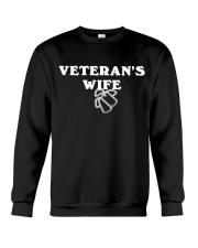 proud veteran wife Crewneck Sweatshirt thumbnail
