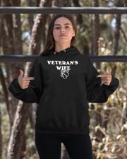 proud veteran wife Hooded Sweatshirt apparel-hooded-sweatshirt-lifestyle-05