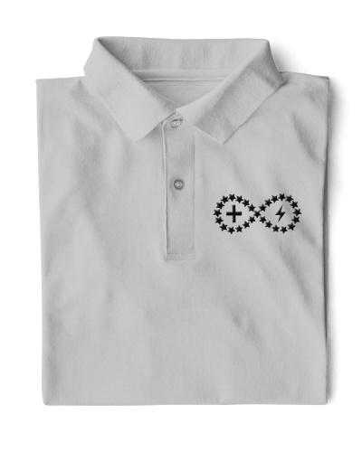 Live Life Strong Polo Shirt Onyx Logo