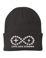 Live Life Strong Ivory Logo Beanie Knit Beanie front