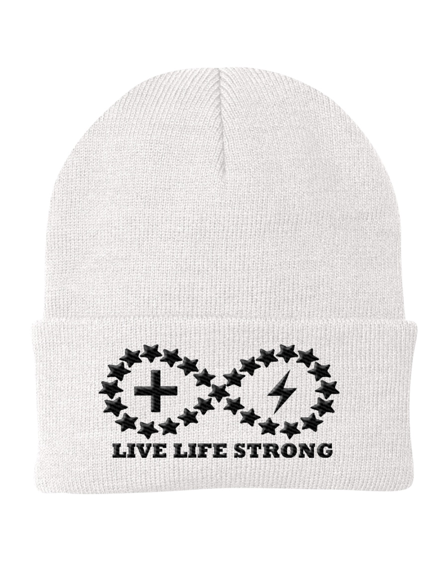 Live Life Strong Onyx Logo Beanie  Knit Beanie