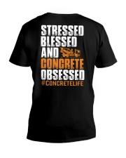Stressed - Blessed - Concrete obsessed V-Neck T-Shirt thumbnail