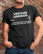 Vintage Lineman Classic T-Shirt apparel-classic-tshirt-lifestyle-26