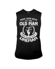Move Over Boys Let This Old Lineman Show You Sleeveless Tee thumbnail