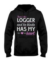 Logger's Wife - He kindle has my heart Hooded Sweatshirt thumbnail