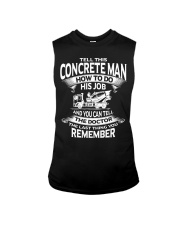 Tell This concrete man how to do his job Sleeveless Tee thumbnail
