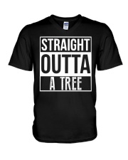Straight Outta A Tree V-Neck T-Shirt tile