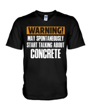 spontaneously start talking about concrete CRT1004 V-Neck T-Shirt tile
