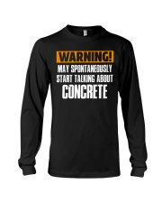 spontaneously start talking about concrete CRT1004 Long Sleeve Tee thumbnail