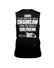 Ladies If Your Man Can't Run A Chainsaw Sleeveless Tee thumbnail