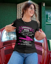 Logger's Wife - Yes We are still married Ladies T-Shirt apparel-ladies-t-shirt-lifestyle-01