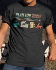 ROOFER VINTAGE PLAN FOR TODAY Classic T-Shirt apparel-classic-tshirt-lifestyle-28