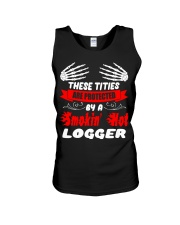 These Tities Are Protected By A LOGGER Unisex Tank thumbnail